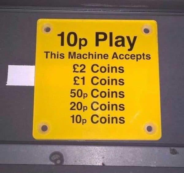 Price Per Play Sign