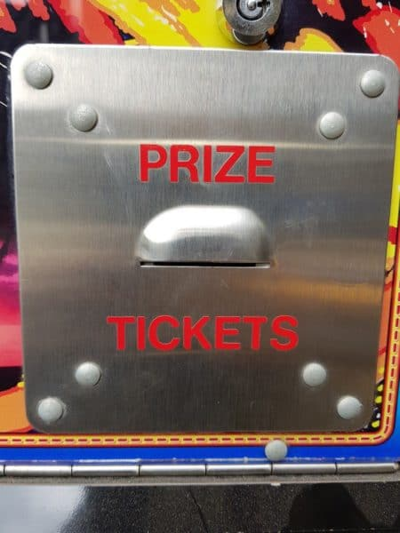 Prize tickets Sign