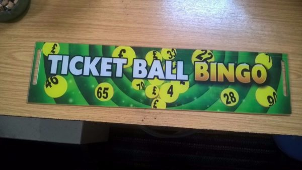 Ticket Ball Sign
